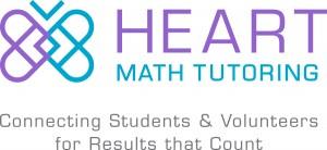 Heart Math Tutoring logo with tagline